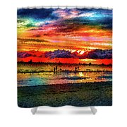 Another Day At The Beach Shower Curtain