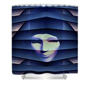 Another Face In The Crowd Shower Curtain