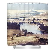Another Flathead River Image Shower Curtain