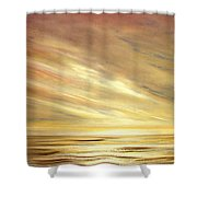 Another Golden Sunset Shower Curtain