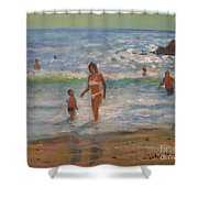 Another Hot Day Shower Curtain
