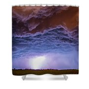 Another Impressive Nebraska Night Thunderstorm 007 Shower Curtain