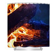 Another Log On The Fire Shower Curtain