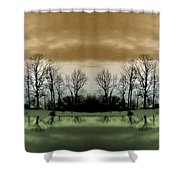 Another Planet Shower Curtain