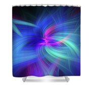 Another Space. Mystery Of Colors Shower Curtain