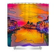 Another Surreal Venice Sunset Shower Curtain