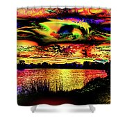 Another Wicked Sunset Shower Curtain