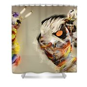 Pow Wow Another World Another Time Shower Curtain