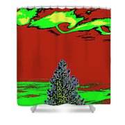 Another World On Earth Shower Curtain