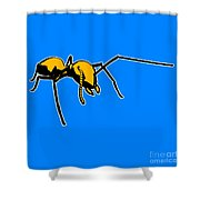 Ant Graphic  Shower Curtain