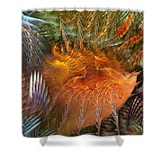 Antecedent To The Emergence Shower Curtain