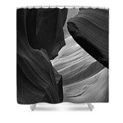 Antelope Canyon Erosions Bw Shower Curtain