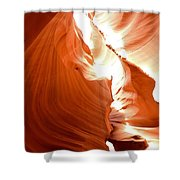 Antelope Canyon Scuplture Shower Curtain