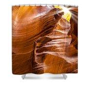 Antelope Canyon Sunrays Shower Curtain