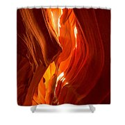 Antelope Canyon Wavy Abstract Shower Curtain