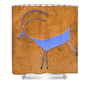 Antelope Petroglyph Shower Curtain