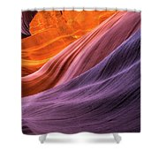 Antelope Rainbow Color Wave  Shower Curtain