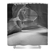 Antelope Slot Canyon Black And White Shower Curtain