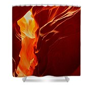 Antelope Textures And Flames Shower Curtain