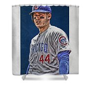 Anthony Rizzo Chicago Cubs 3 Shower Curtain