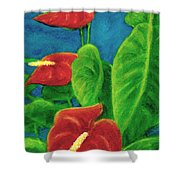 Anthurium Flowers #296 Shower Curtain
