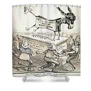 Anti-greenback Cartoon Shower Curtain