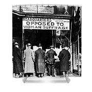 Anti-suffrage Association Shower Curtain