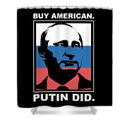 Anti Trump Art Impeach President Resist Putin Dark Shower Curtain