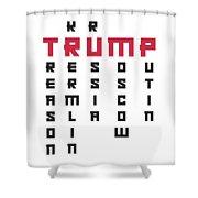 Anti Trump Art Impeach President Resist Putin Light Shower Curtain
