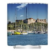 Antibes Fort Carre And Port Vauban  Shower Curtain