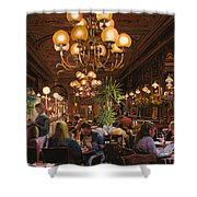 Antica Brasserie Shower Curtain