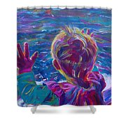 Anticipation Or Are We There Yet? Shower Curtain