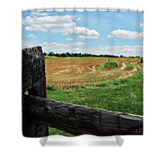 Antietam Farm Fence 2 Shower Curtain