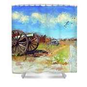 Antietam Under Blue Skies  Shower Curtain