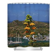 Antigua National Flower  Shower Curtain