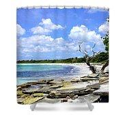 Antigua Shoreline Shower Curtain