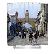 Antigua Street Scene Shower Curtain