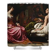 Antiochus Prince Of Syria And Stratonice His Stepmother Shower Curtain