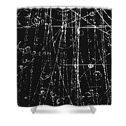 Antiproton Display, Bubble Chamber Event Shower Curtain