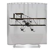 Antique 1910 Henri 3 Biplane  Airplane Takes Flight Poster Print Shower Curtain