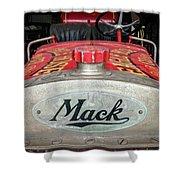 Antique 1930 Mack Bc-cd Fire Truck Shower Curtain