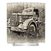 Antique 1947 Mack Truck Shower Curtain