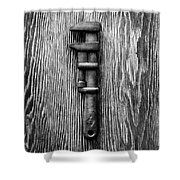 Antique Adjustable Wrench Bw Shower Curtain
