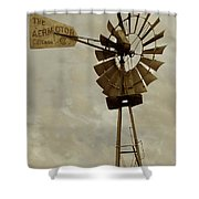 Antique Aermotor Windmill Shower Curtain