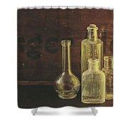 Antique Bottles Shower Curtain