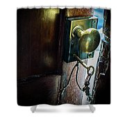 Antique Brass Doorknob Shower Curtain