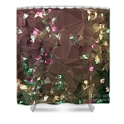 Antique Bronze Abstract Low Polygon Background Shower Curtain