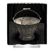 Antique Bucket For Your Modern List Shower Curtain