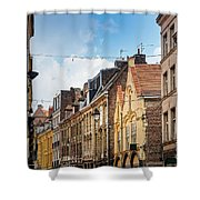 antique building view in Old Town Lille, France Shower Curtain