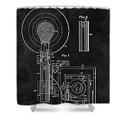 Antique Camera Flash Patent Shower Curtain
